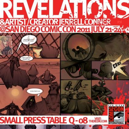 comic con 2011 flier